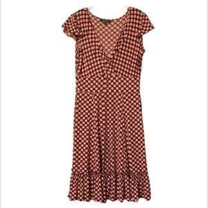 Lily Size Large Pink and Burgundy Polka Dot Dress